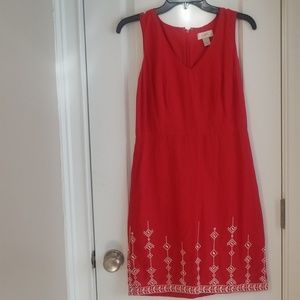Beautiful coral Loft dress. NWOT